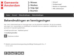 AmsterdambekendmakingHighlandgames